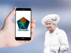 Aplicativo Pentagono e a Rainha